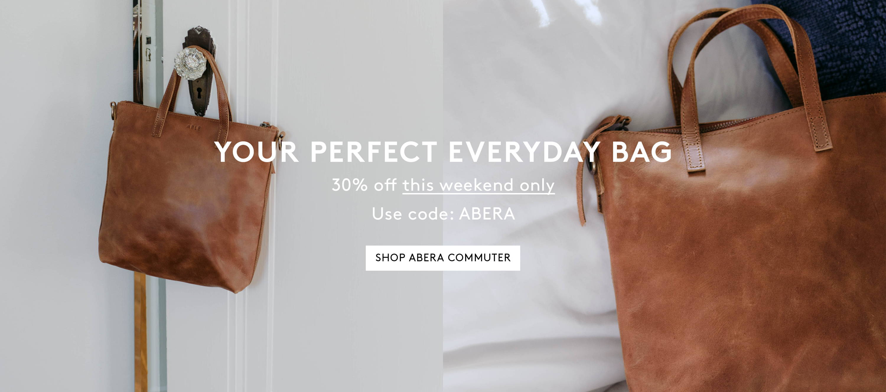 Your Perfect Everyday Bag - Take 30% off Abera Commuter with code ABERA
