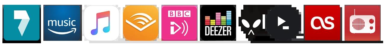 Music Streaming App Logos
