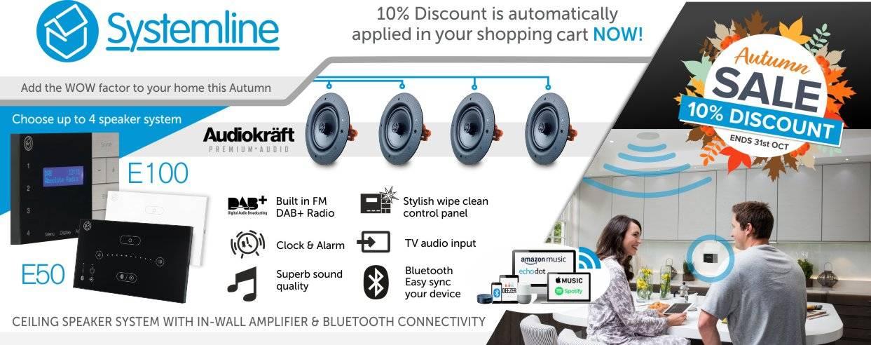 Systemline 10% Discount at Audio Volt