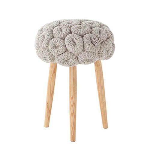 Gan Rugs Knitted Rings Stool