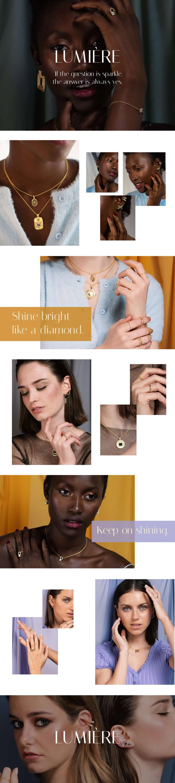 La colección de joyas de diseño bañadas en oro con más brillo. Descubre las joyas con piedras naturales perfectas para tu día a día.