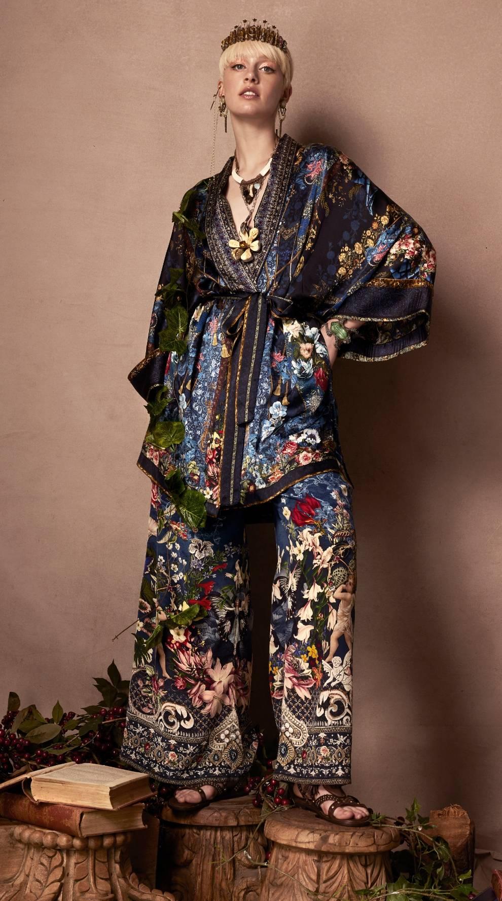 kimono and pants