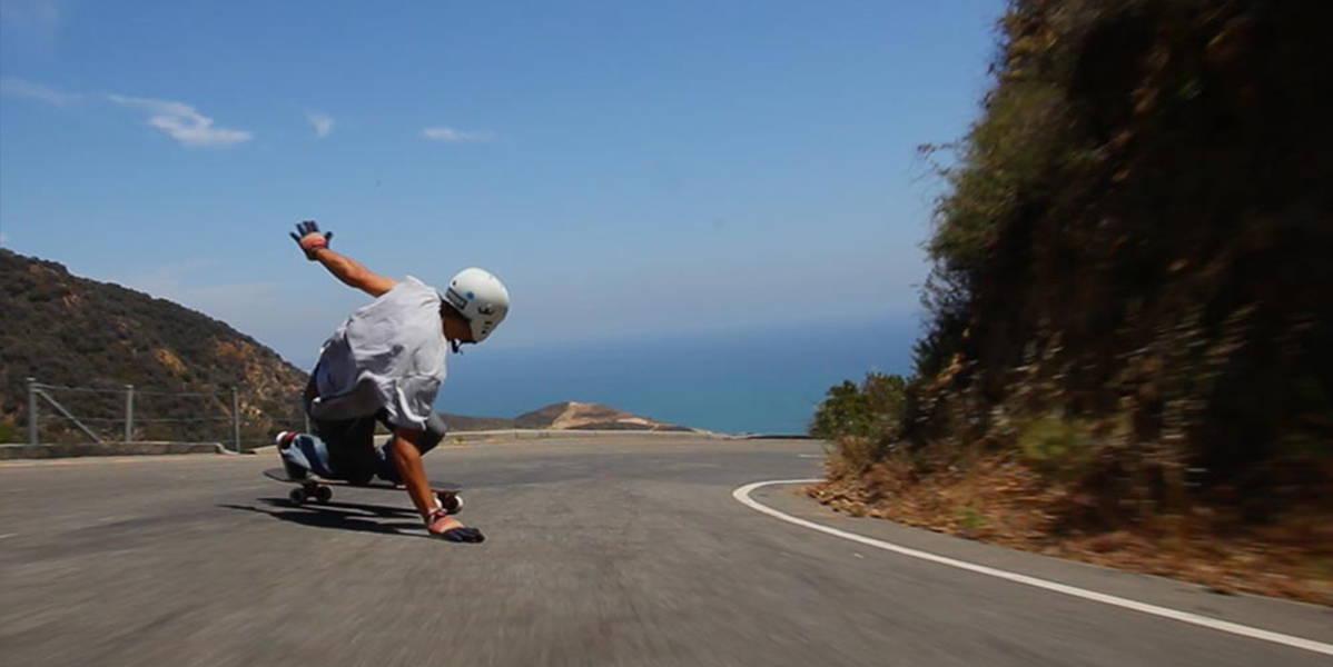 KJ Nakanelua Downhill Skateboarding