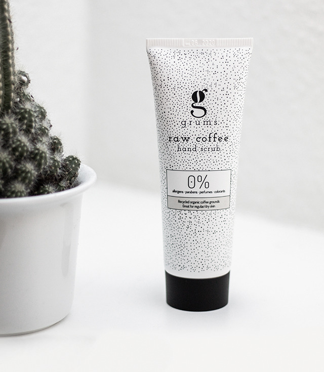 raw coffee hand scrub
