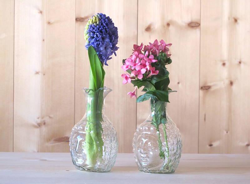Djamal Head Glass Vase