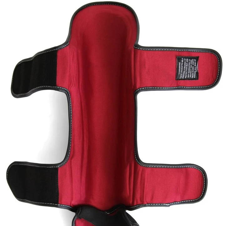 SMAI Elite85 Muay Thai Shin Guards Dual Hook and Loop Straps