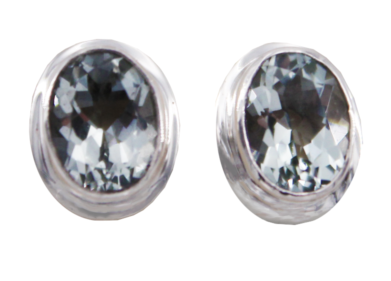 Green Amethyst Stud Earrings by Indiri Collection