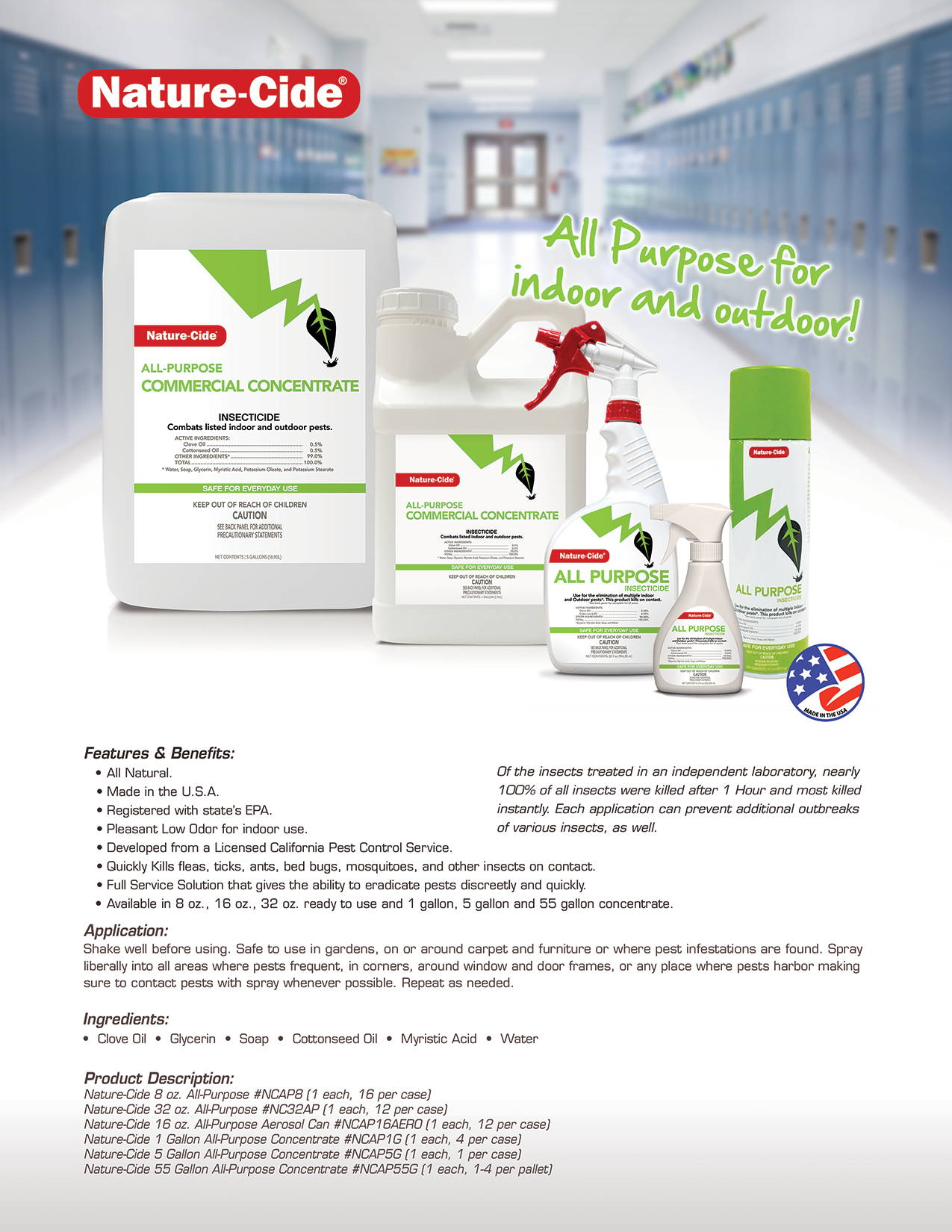 Nature-Cide All Purpose Product Info