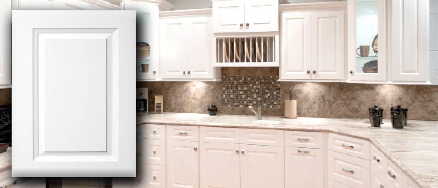 Aspen White RTA Kitchen Cabinets