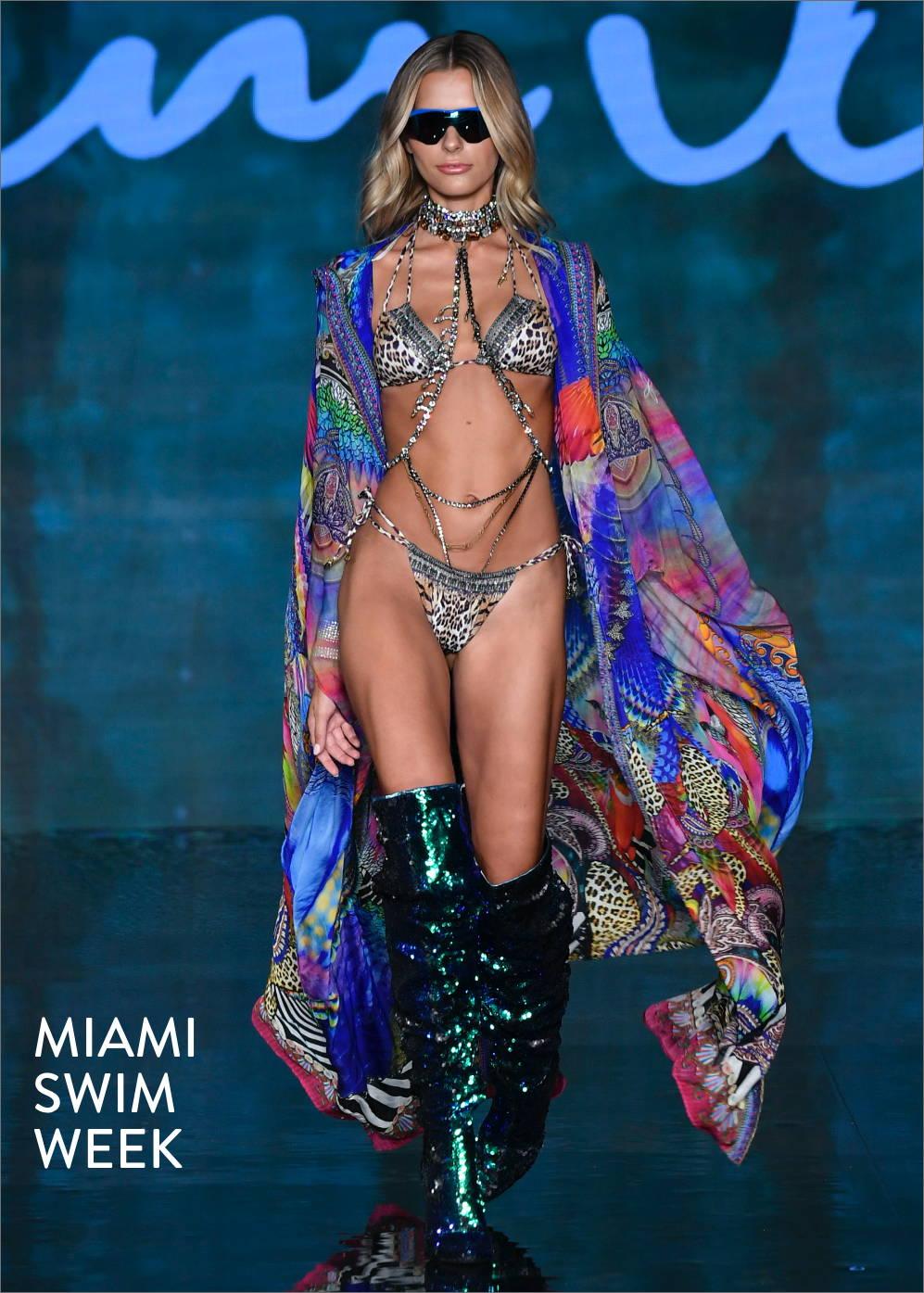 CAMILLA Miami swim week leopard print bikini