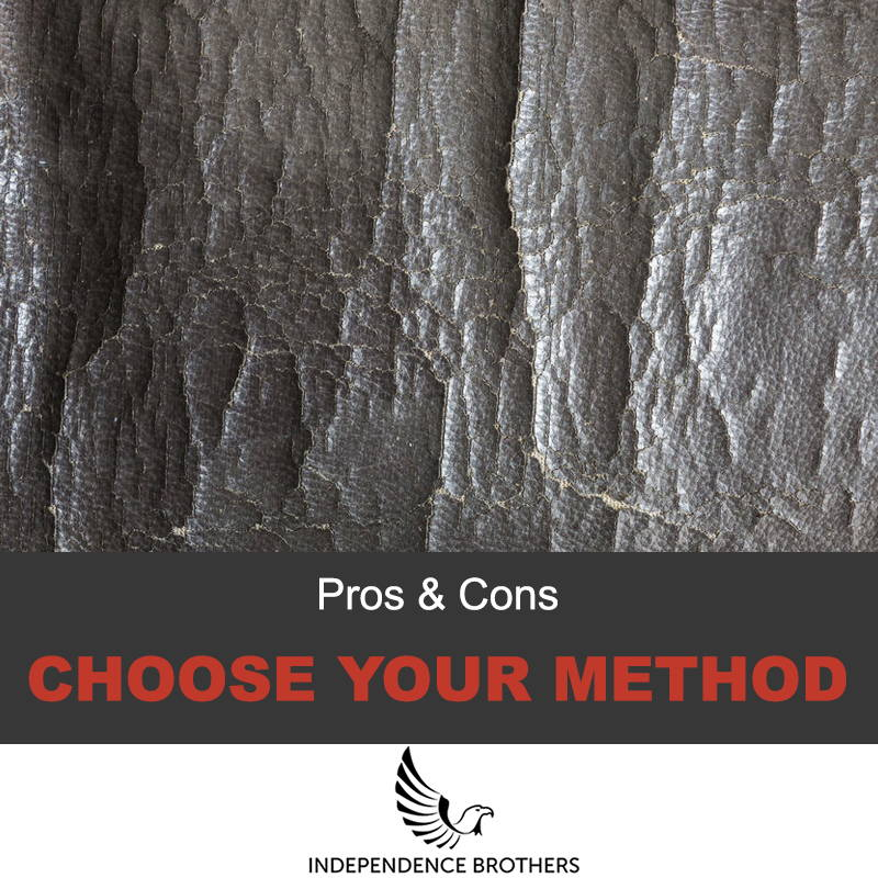 Choose your method for fixing faux leather
