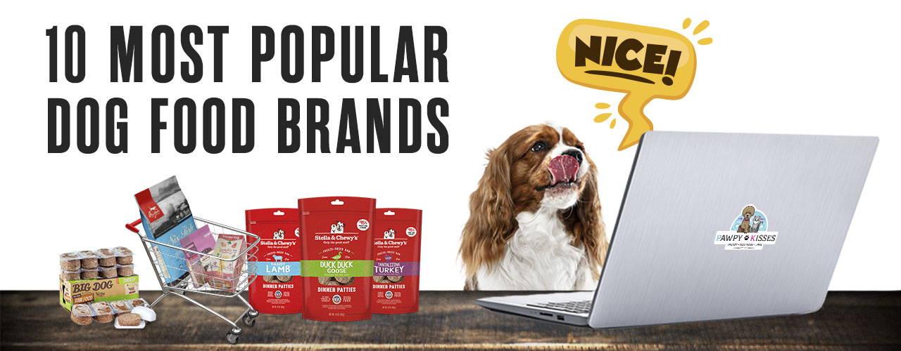 10 most popular dog food brands at our online pet shop!
