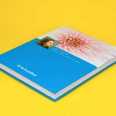 Blue Social Book