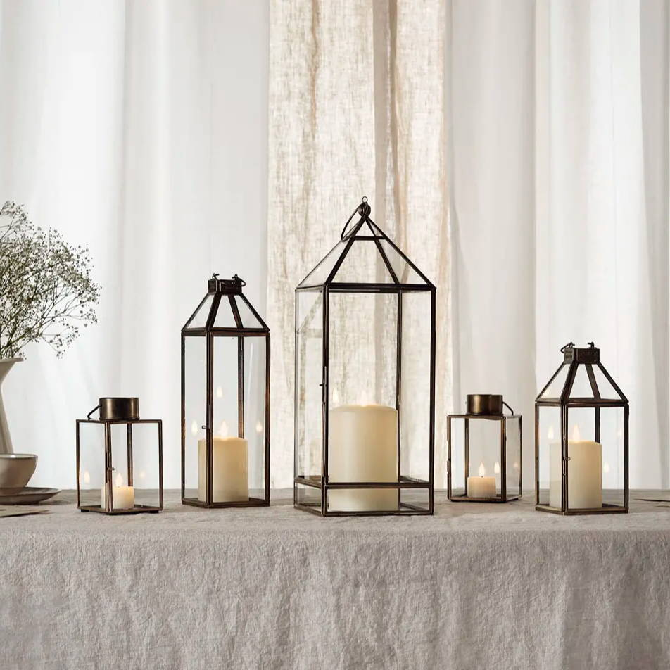A collection of indoor lanterns placed in a homely setting