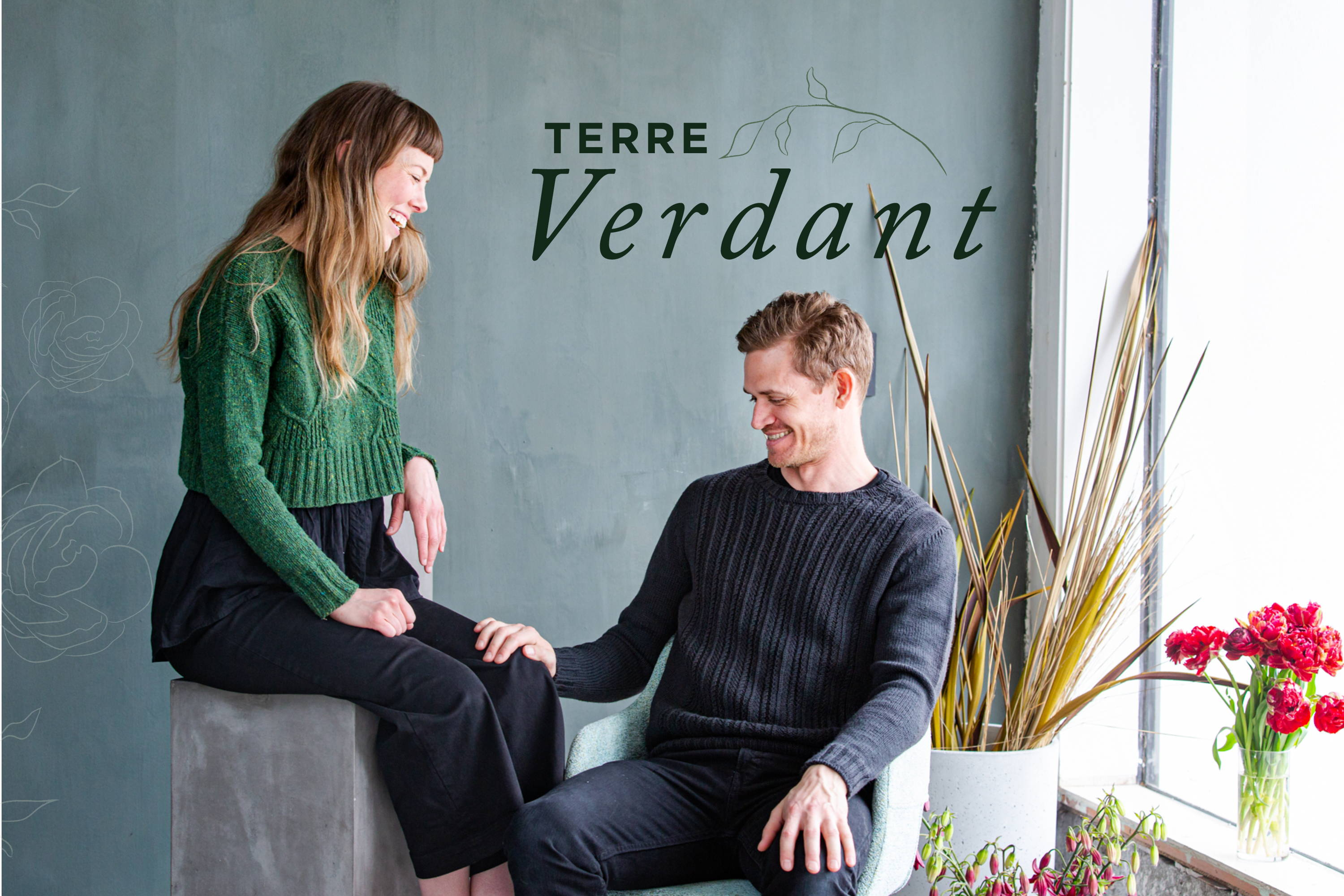 Terre Verdant | Image of Alyssa (woman) modeling Broadleaf and Brian (man) modeling Haskins