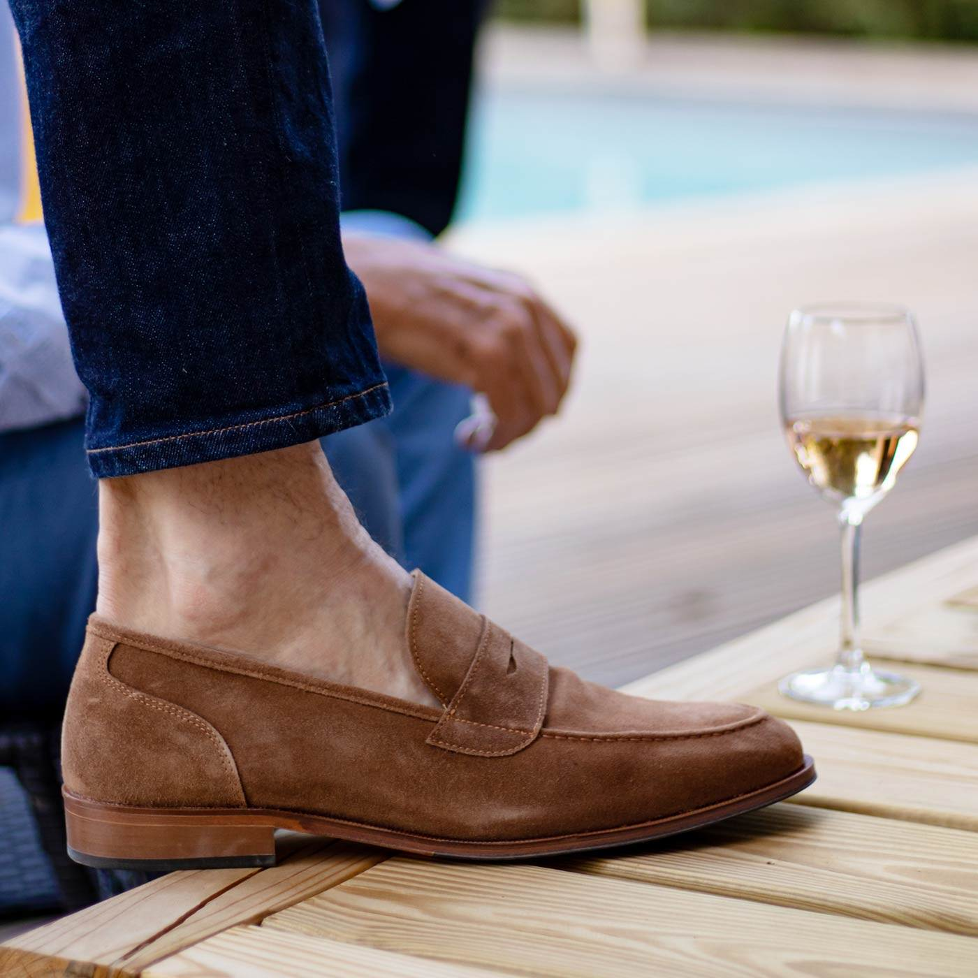 Mocassins homme pieds sensibles semelles orthopédiques