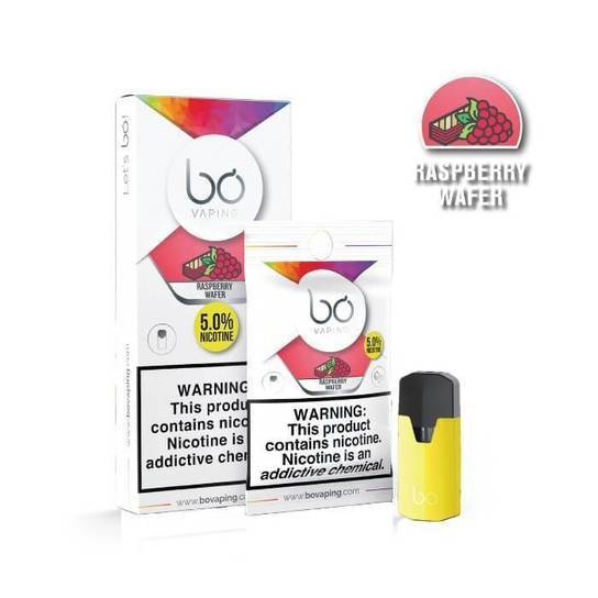Raspberry Wafer Bo Vape Pods by Bo Vaping