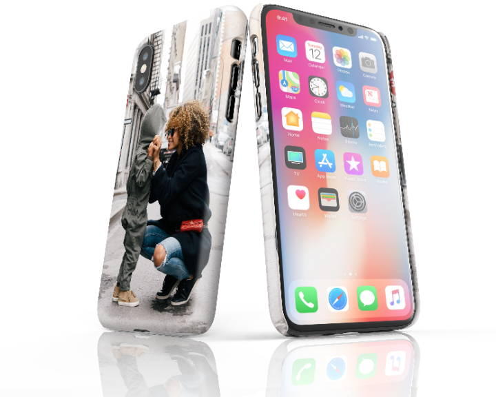 Custom iPhone X Slim Case Side by Side