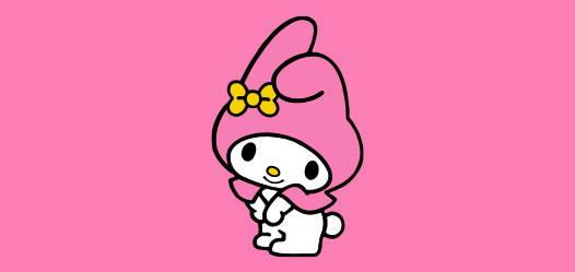 My Melody Hoppe Chan with Strap Silicon Mini Mascot Kawaii