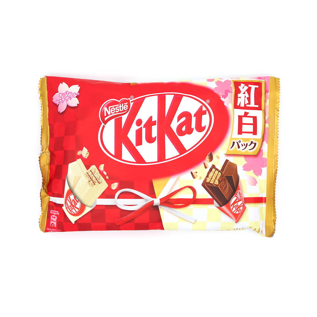 New Years red and white kit kat