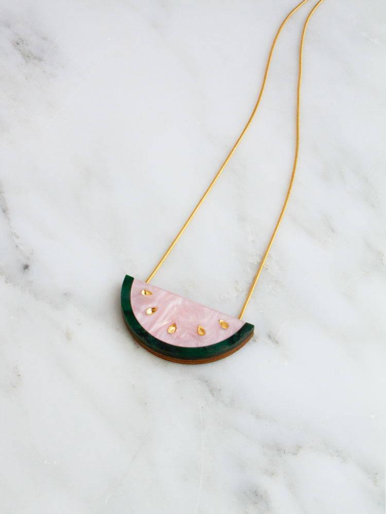 Wolf & Moon x CoppaFeel! Watermelon Necklace | Handmade in London
