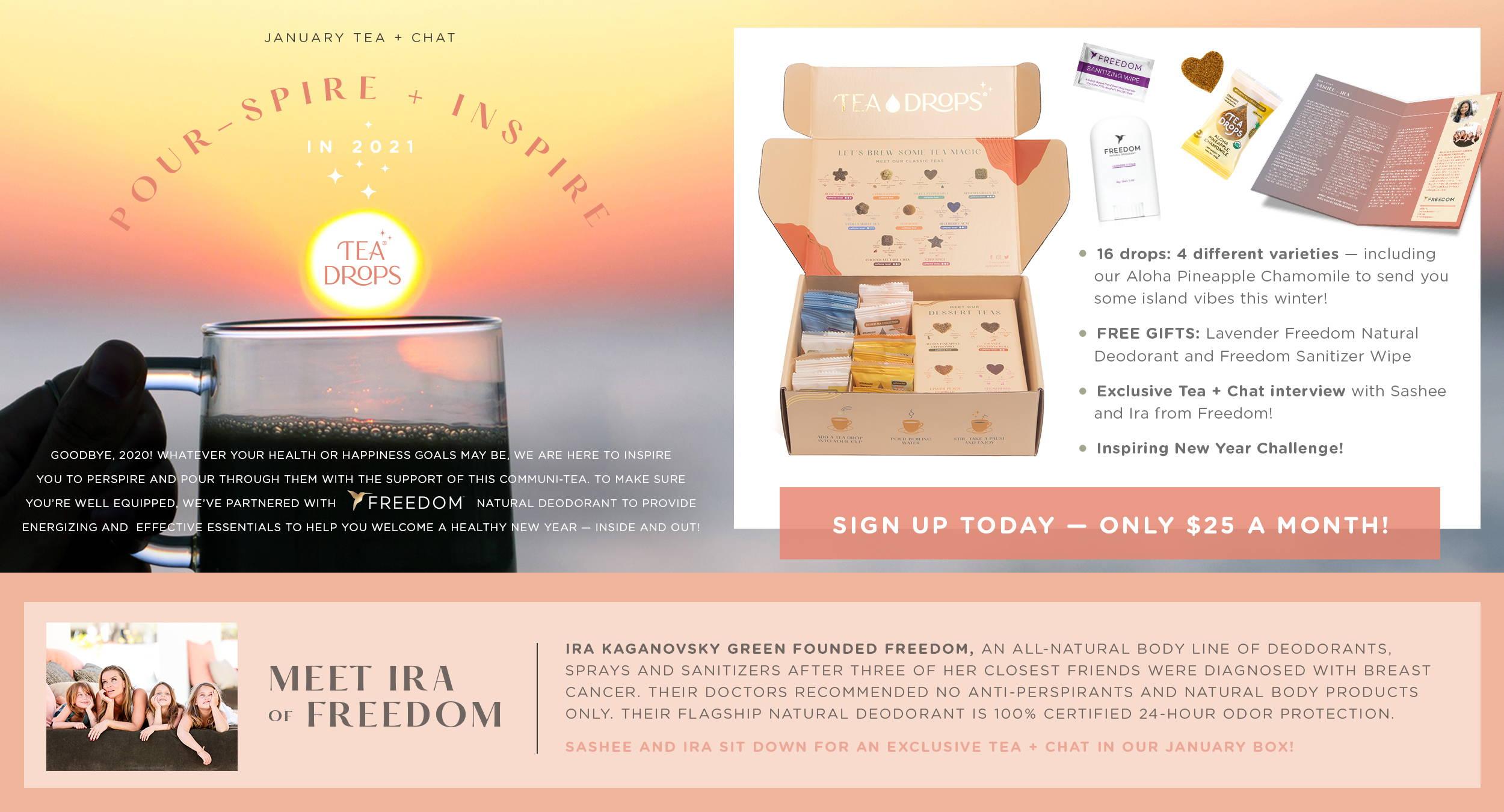 January Tea + Chat Subscription Box