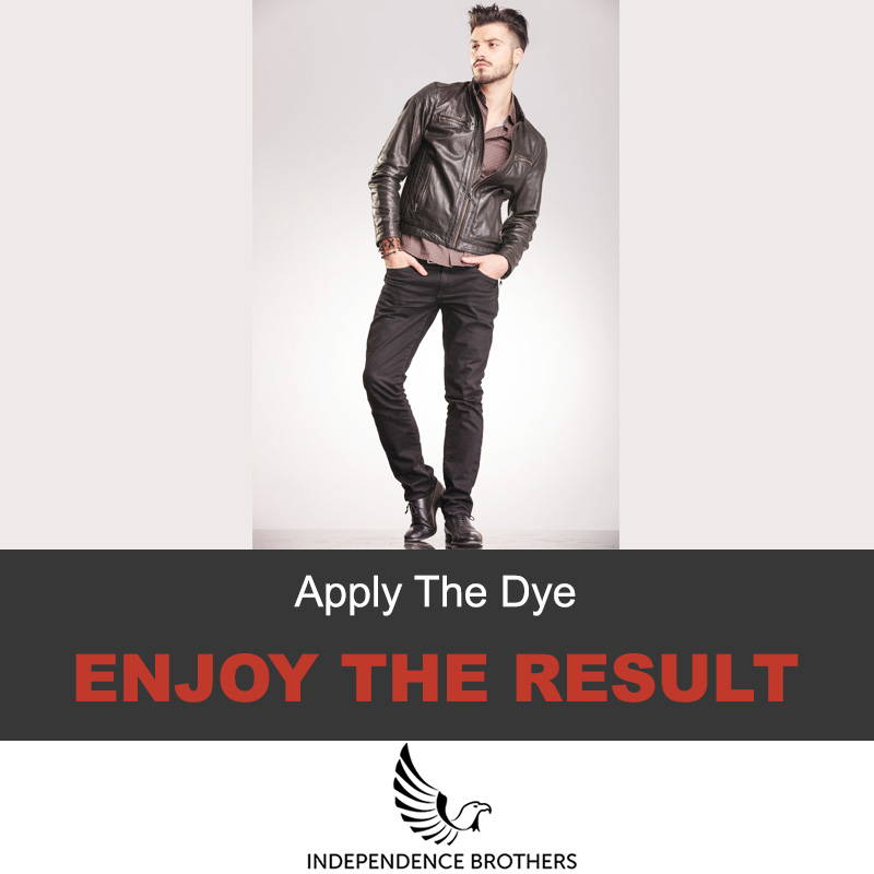Dyeing leather jacket