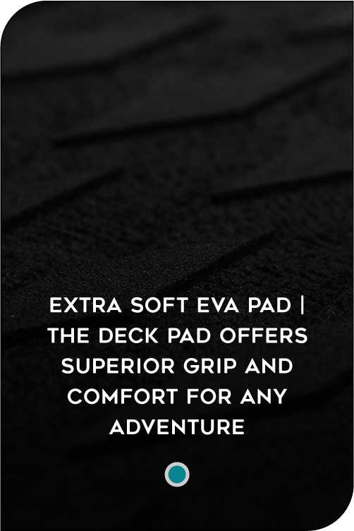 INFLATABLE PADDLEBOARD  SUP TRACTION PAD FEATURE
