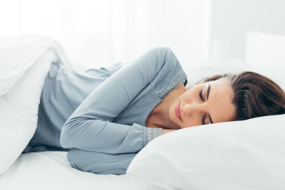 Sleeping Woman with Clear Skin