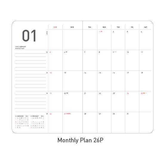 Monthly plan - Ardium 2020 Premium natural dated monthly diary planner
