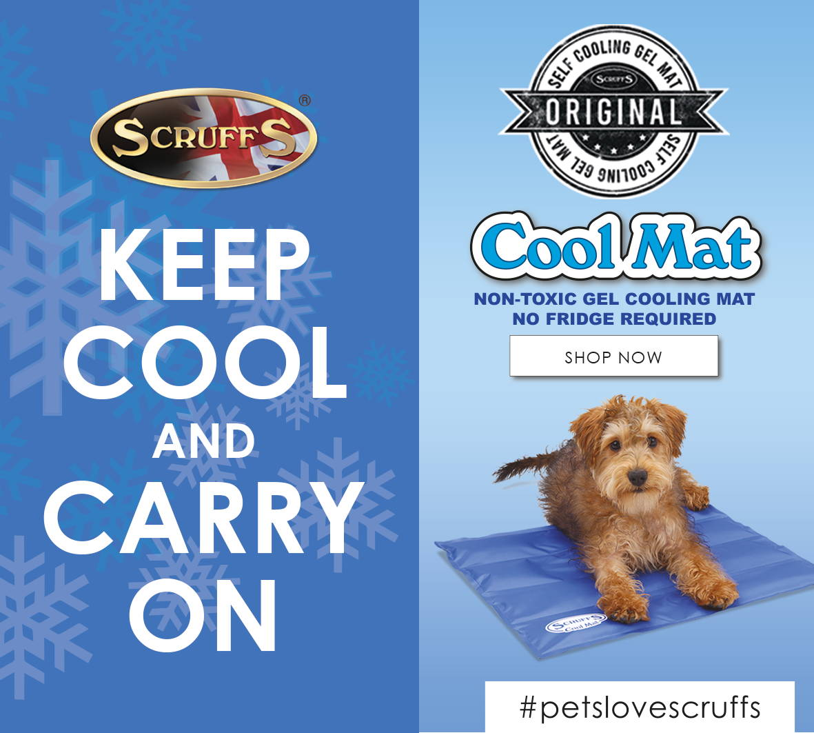 scruffs self-cooling mat