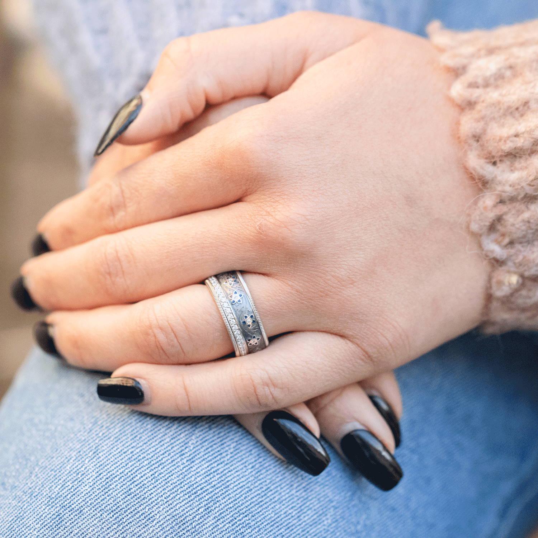 Blueberry Flower Ring