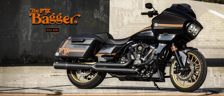 Custom Fox Shox themed Harley-Davidson Roadglide