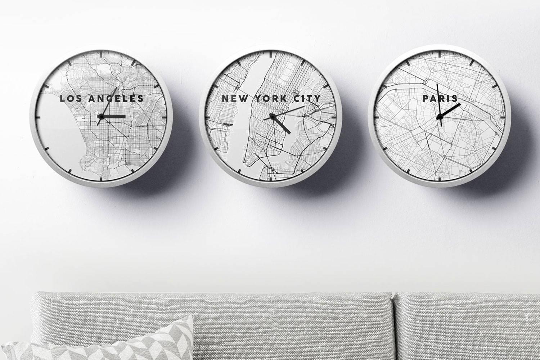 modern living room wall clock of los angeles new york paris