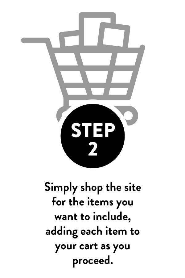Step 2: Illustration of shopping cart with shop site info