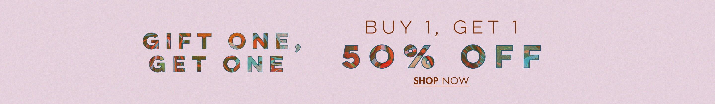 Buy 1 Get 1 50% Off