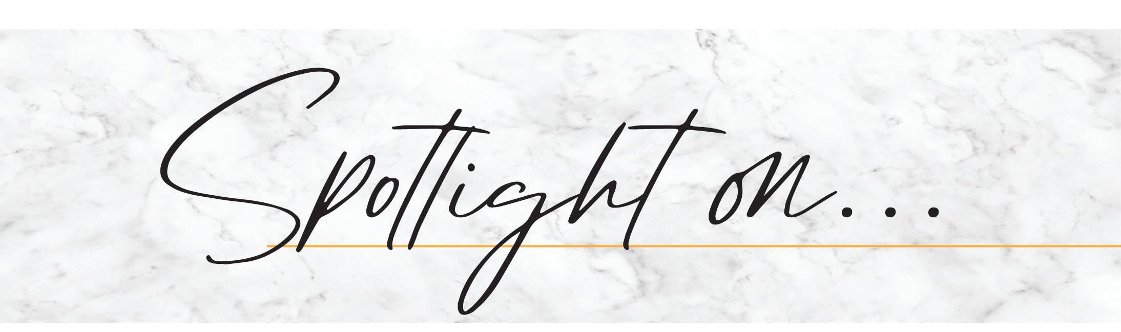 spotlight on text heading