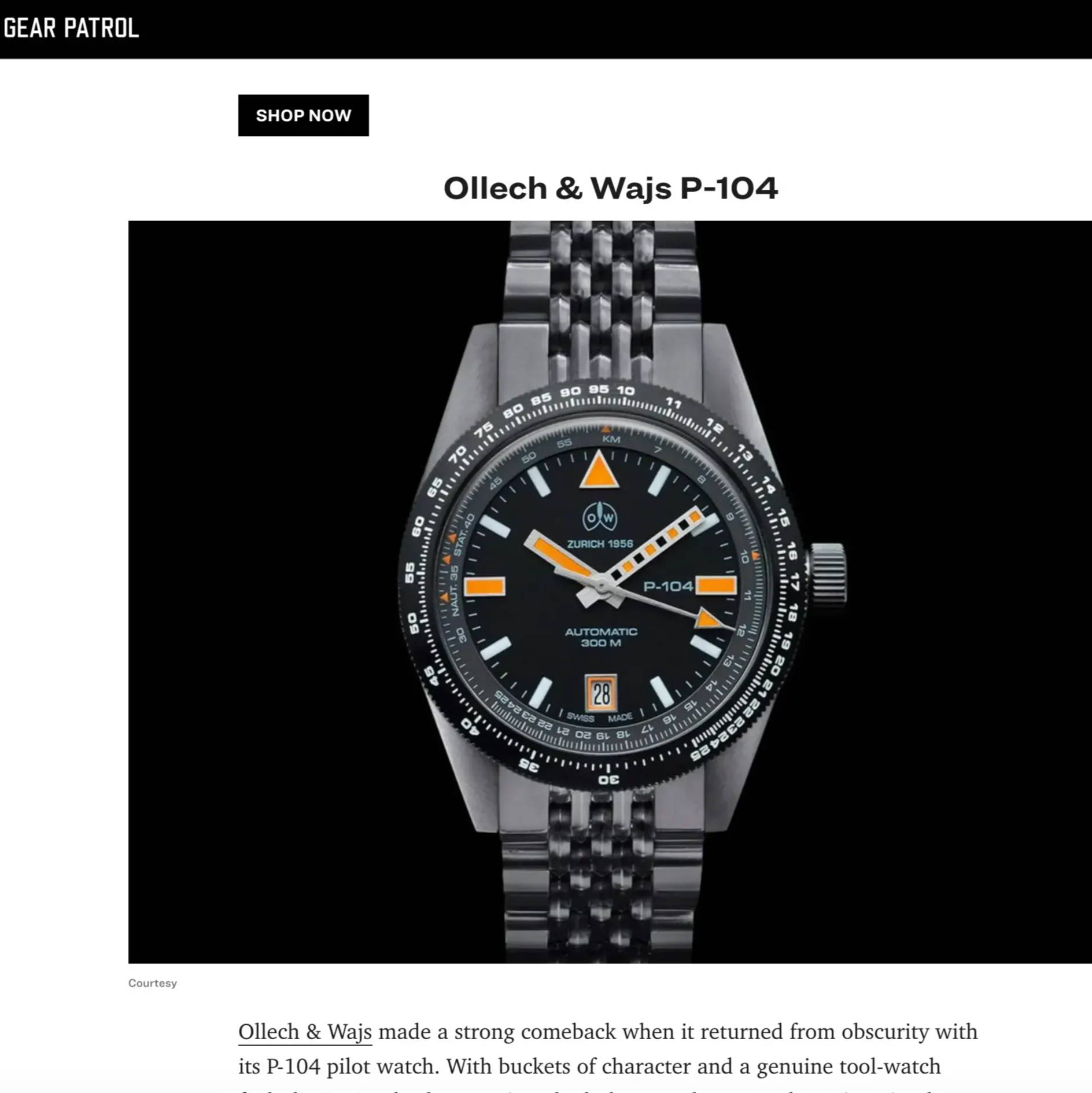 Ollech and wajs gear patrol The Best Pilot's Watches Available Right Now