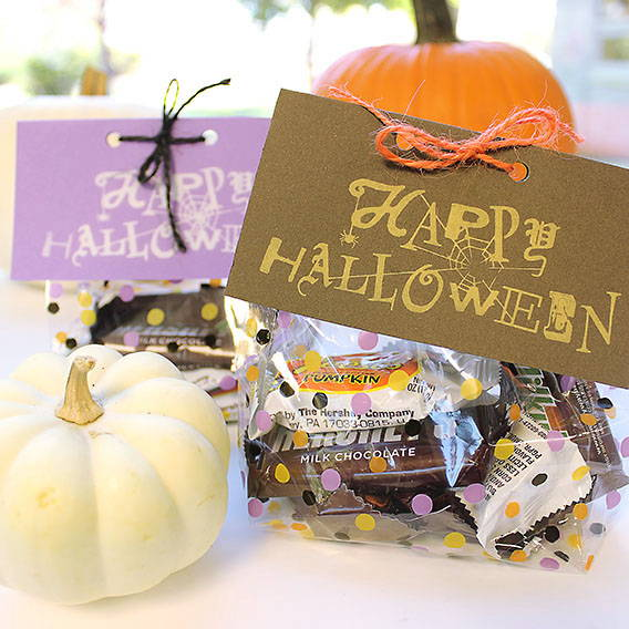 Stamped Halloween Treat Bags | Happy Halloween Stamp