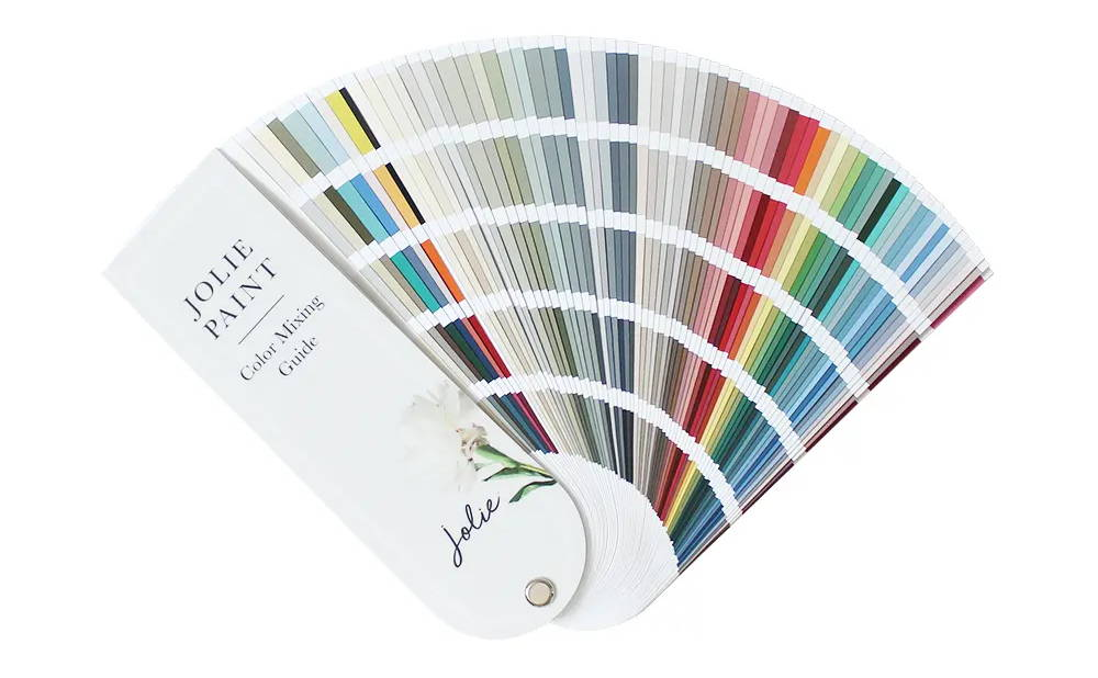 Jolie Paint Color Mixing Guide fan deck
