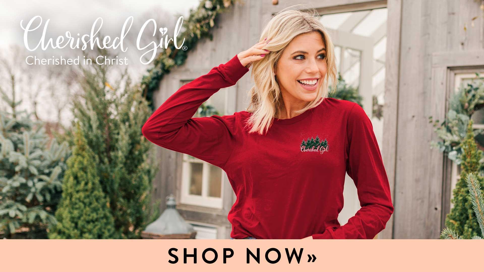 Kerusso Cherished Girl Christian T-shirts for Women Christian Apparel for Women
