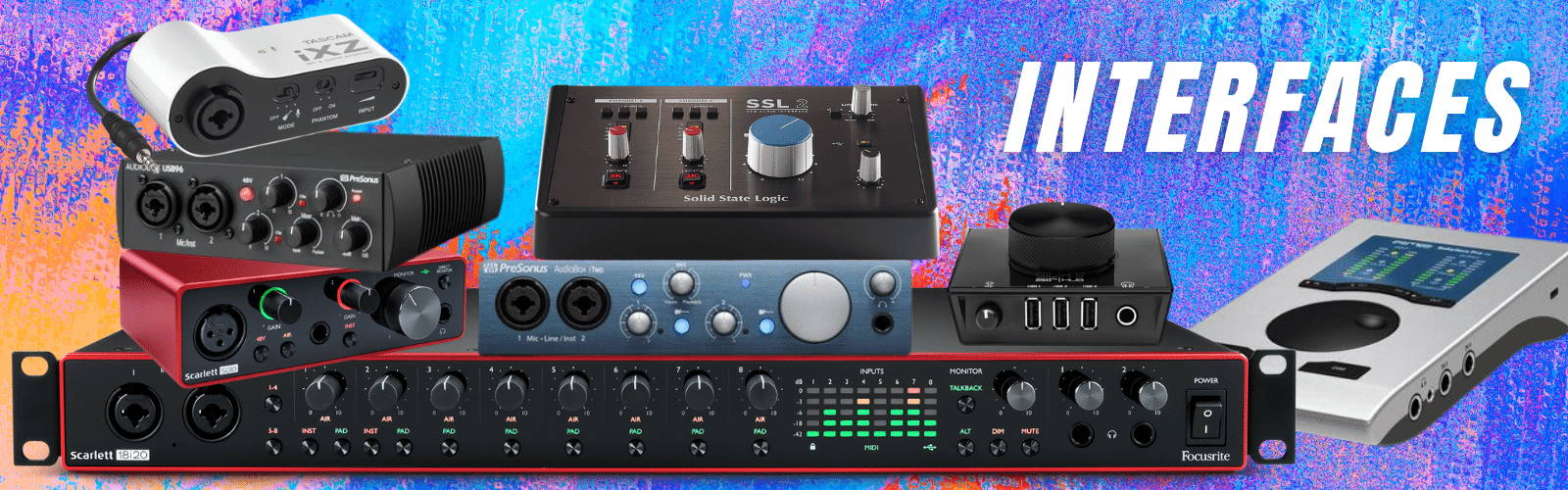 USB interfaces and recording interfaces in stock at emi audio