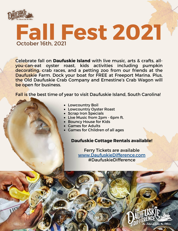 Fall Fest 2021 on Daufuskie Island, SC Poster Advertisement