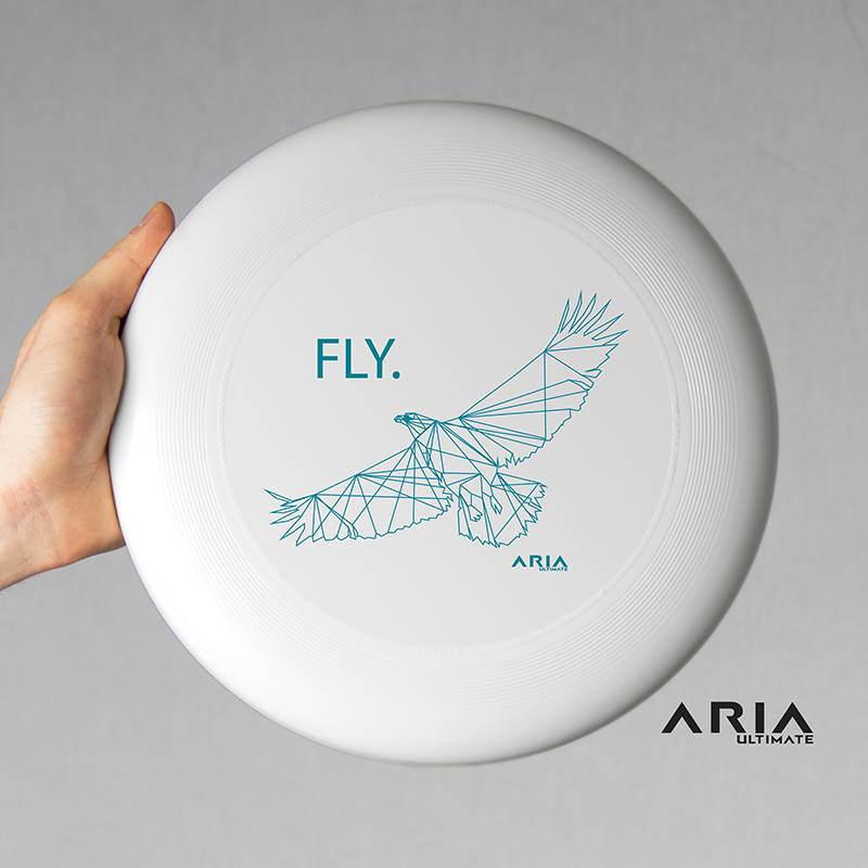 ARIA professional official ultimate flying disc for the sport commonly known as 'ultimate frisbee'  fly design