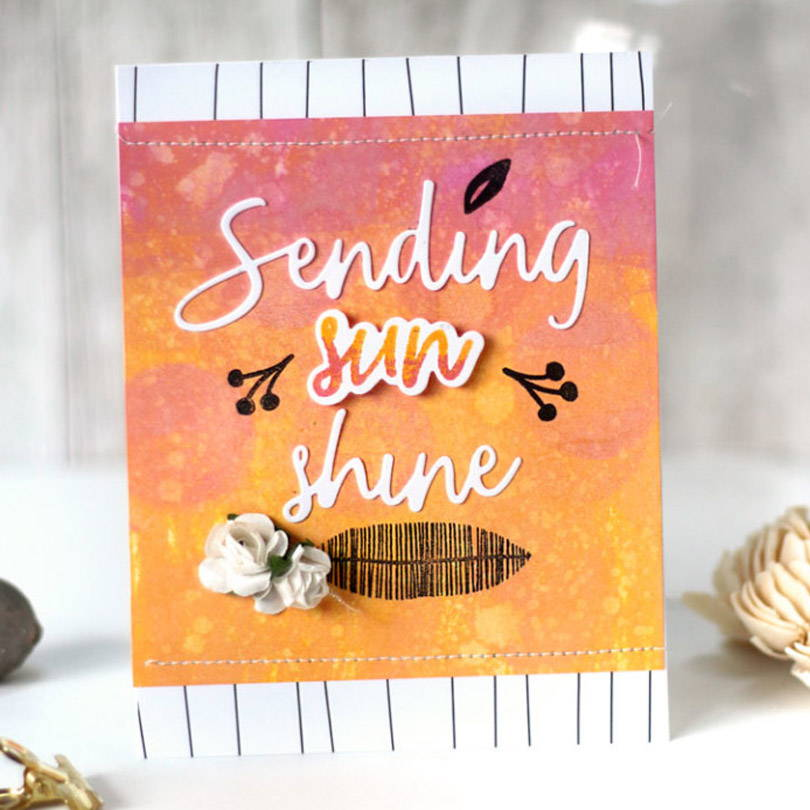 UWF Sending Sunshine card by Julia Stainton
