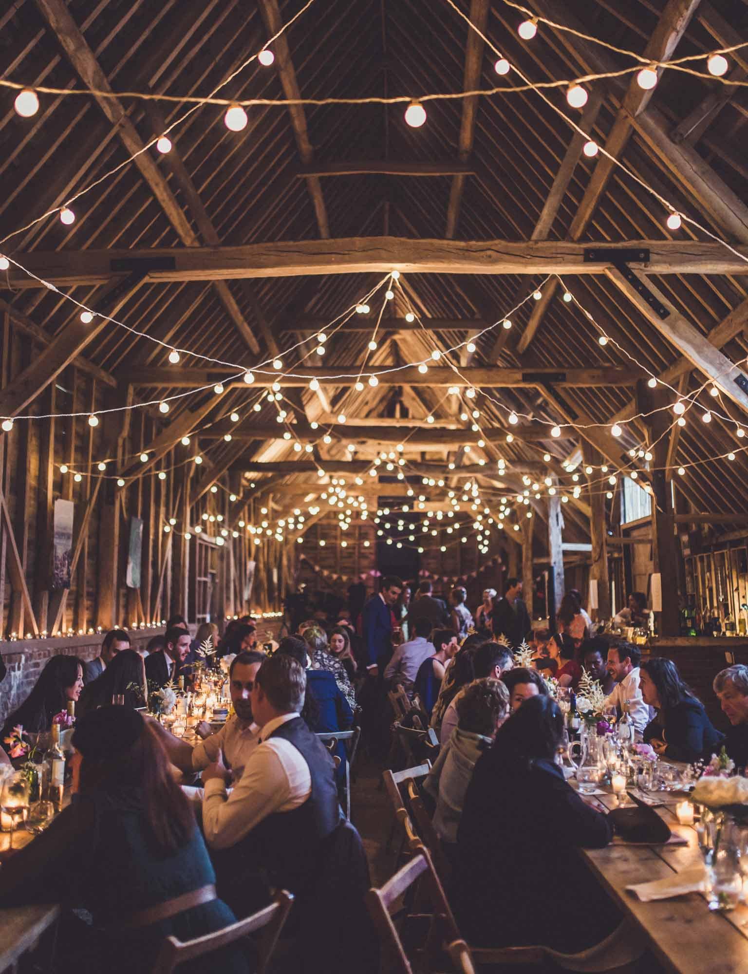 Barn Wedding Light Ideas   Lights4fun.co.uk