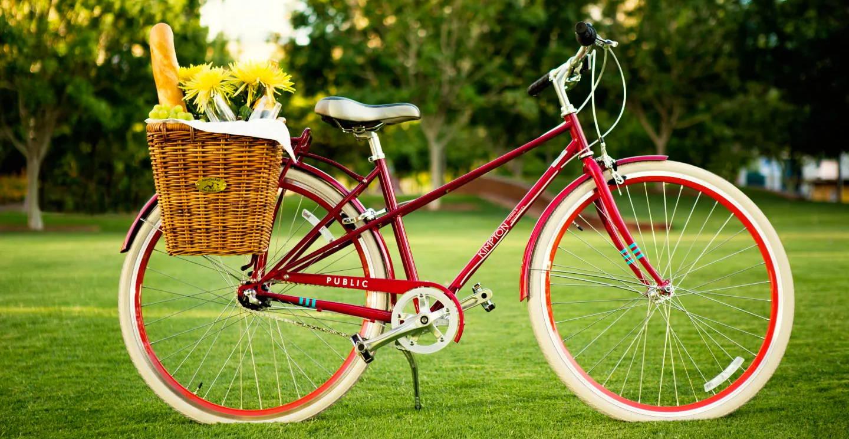 a hotel rental bike