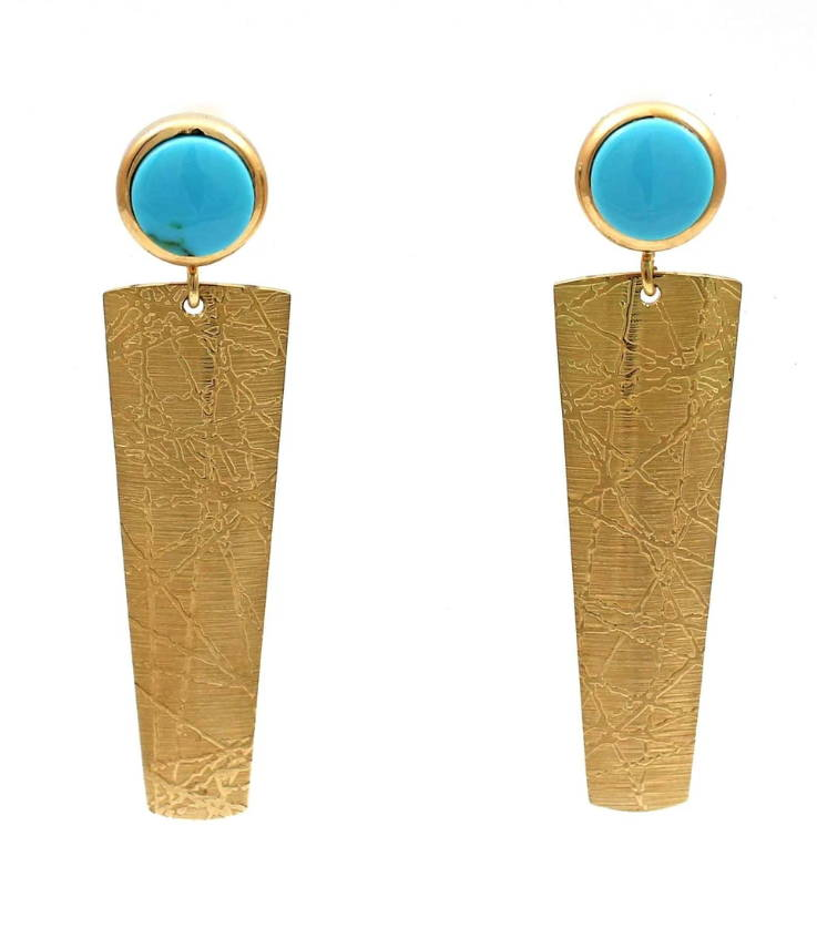 Turquoise EArrings. Ben Nighthorse. Chris Pruitt. Santa Fe Jewelry.