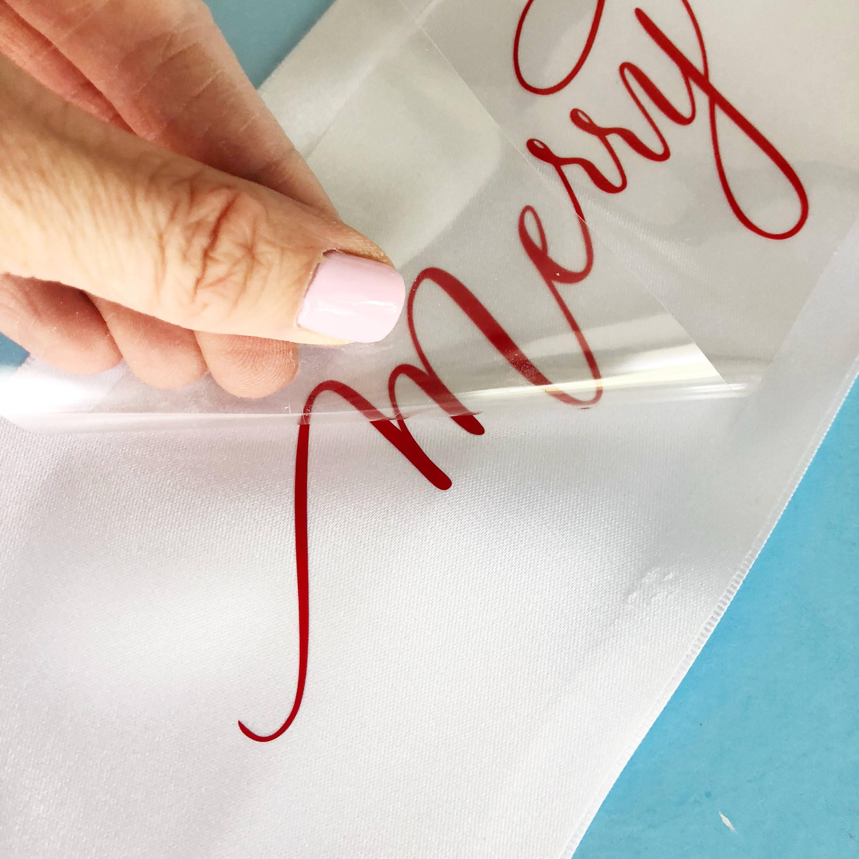 Diy Holiday Wreath Project How To Apply Heat Transfer Vinyl On Ribbon
