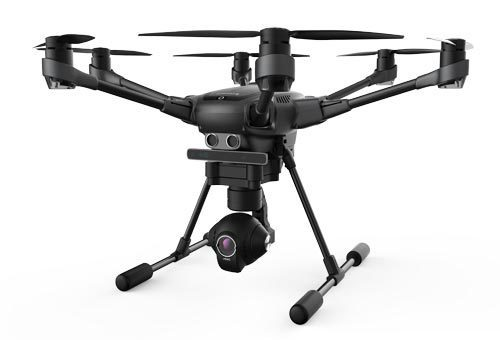 The Yuneec Typhoon H features retractable landing gear